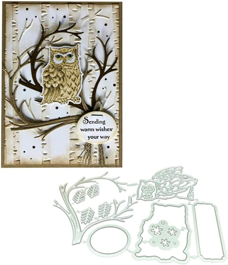 Owl on The Tree Stamps and Dies Ranking TOP17 for Gorgeous Making Card Sets Bird Metal