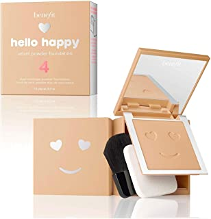 BENEFIT COSMETICS Hello Happy Velvet Powder Foundation Shade 4 Medium Neutral