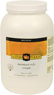 Moisture Rich Massage Cream by Lotus Touch - 100% Pure Grapeseed & Borage Oils - Unscented, Ultra-Hydrating for Skin - Maximum Glide with Minimum Friction - Can be Used on Face & Hands - 1 Gallon