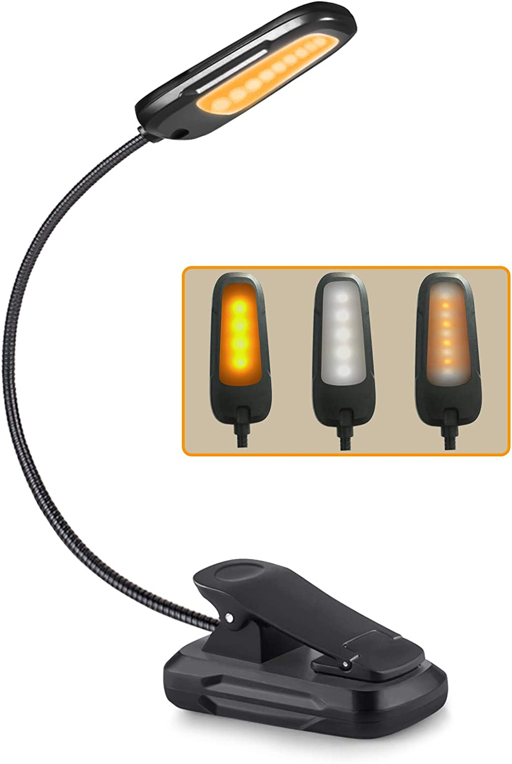9 LEDs Rechargeable Book Light OFFicial shop Max 88% OFF in Night Bed for Reading