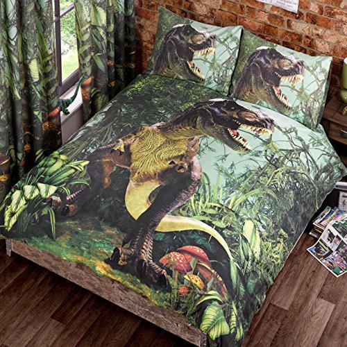T Rex Doble Funda de edredón de Cama de edredón y 2P/Casos Dinosaurios Ropa de Cama Dino...