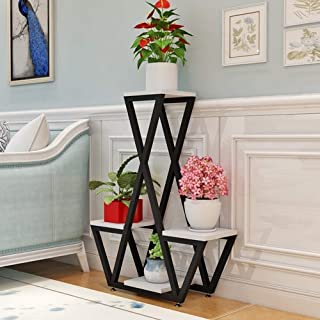 HTTSC Multilayered Modern Florist Floor Standing Living-European Frame Stable and Durable Equipment Exhibition Stand 40 * ...