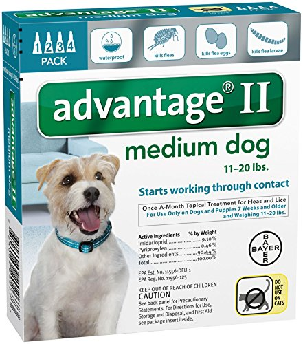 Bayer Animal Health Advantage II Medium Dog 4-Pack