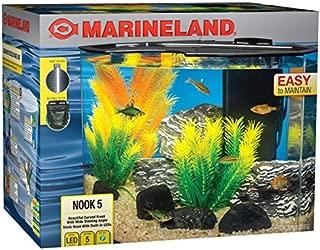 Marineland Nook Aquarium Kit with Built-In LEDs and Hidden Filtration
