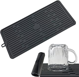 Silicone Dish Drying Mat Kitchen Tableware Pad Washing Sink Glass Rack Mats Home Black