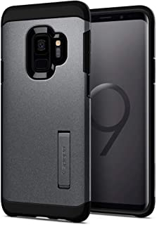 Spigen [Tough Armor] Galaxy S9 Case with Reinforced Kickstand and Heavy Duty Protection and Air Cushion Technology for Samsung Galaxy S9 (2018) - Graphite Gray