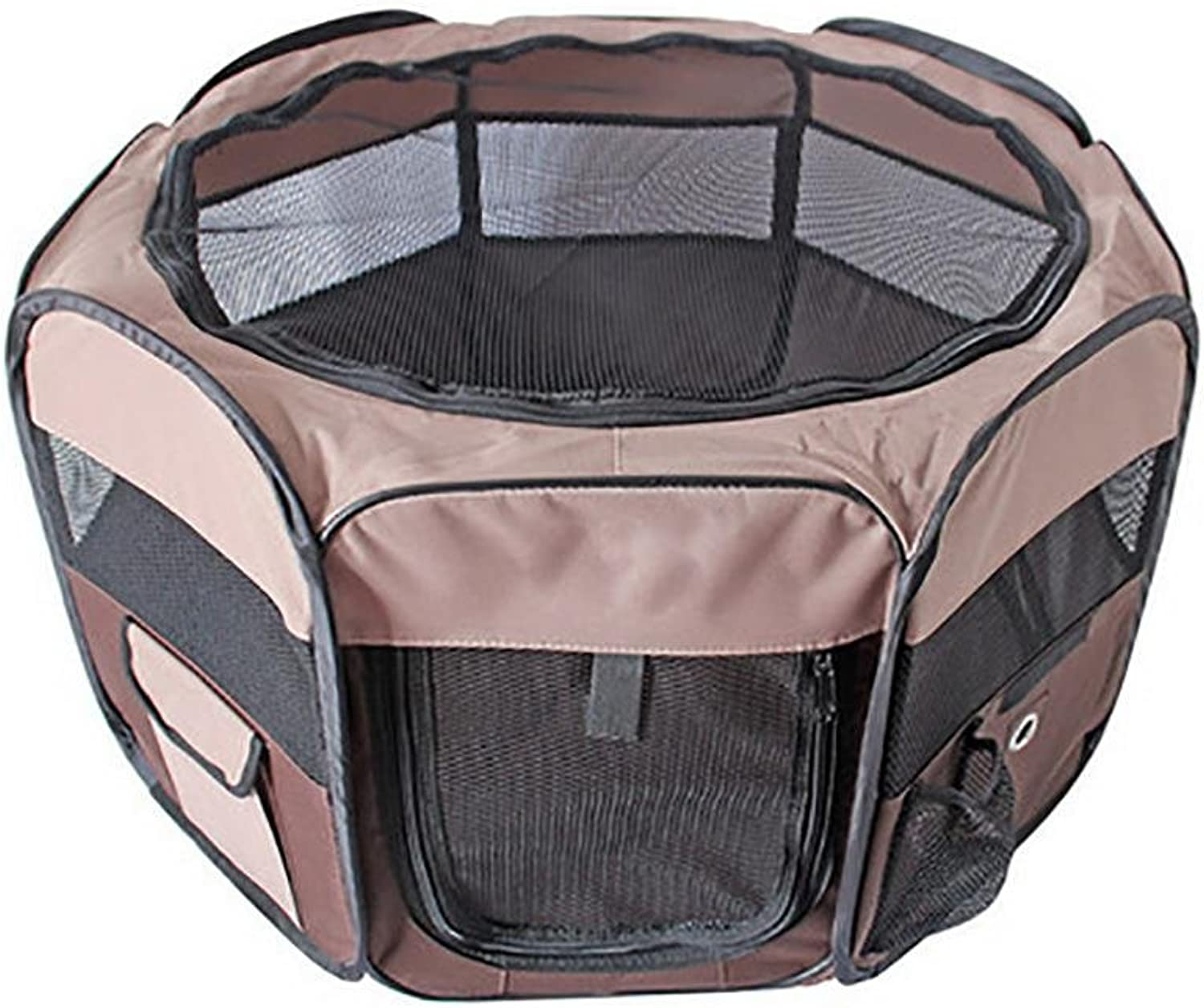 LAMEI Pets Portable Foldable Pet Playpen, Carrying Case & Collapsible Travel Bowl, Indoor Outdoor use, Water resistant
