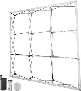 VEVOR Stand d'Exposition Pliable 2,4x2,4m, Stand du Salon Commerciale en Alliage d'Aluminium, Présentoirs pour Salons Prof...
