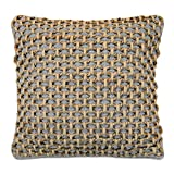 Boho Living Jada Decorative Pillow, Grey Pillows, 20 in x 20 in x 6.5...
