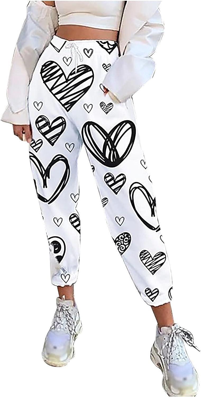 MIVAMIYA Womens Comfy High Waist Drawstring Lounge Pants Casual Floral Print Boho Pants Harem Capri Pants