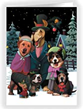 Dog Choir Holiday Card 18 Cards & Envelopes - Dog Theme Boxed Christmas Cards