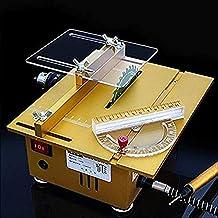 SLWXZXD Mini sierra de mesa, portátil, sierra de mesa hecha a mano de carpintería de torno eléctrico pulidora amoladora de sierra de corte DIY modelo de manualidades herramienta de corte (dorado)