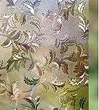 LMKJ Película de Ventana esmerilada marrón 3D, película de Vidrio de privacidad electrostática de Hoja autoadhesiva, película de Vidrio de protección UV esmerilada A23 40x200cm