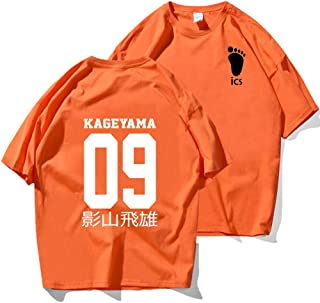 Camisetas Haikyuu Kageyama Tobio de Dibujos Animados para Hombres Hip Hop Camiseta Informal Harajuku Moda Verano Japón Ani...