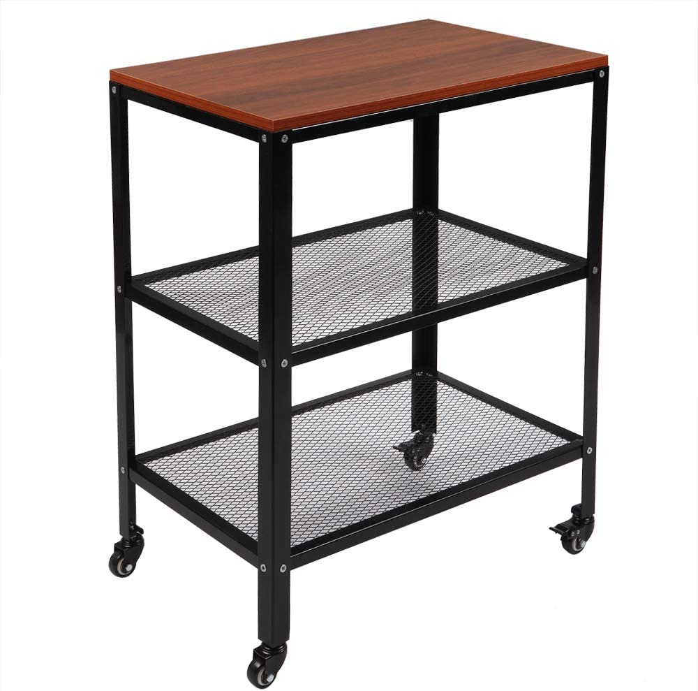 3-Tier Year-end annual account Kitchen Microwave Cart Rolling Sta Utility depot