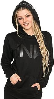 InkAddict Women's Black Pullover Hoodie - Tattoo Inspired Ink Addict Logo Lightweight Pullover for Women