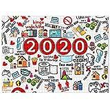 Rompecabezas de Navidad 2020 para adultos y niños, 10000 piezas, rompecabezas de conmemoración 2020 para juguetes para niños,para diversión familiar,actividad interior para conmemorar este año extraño