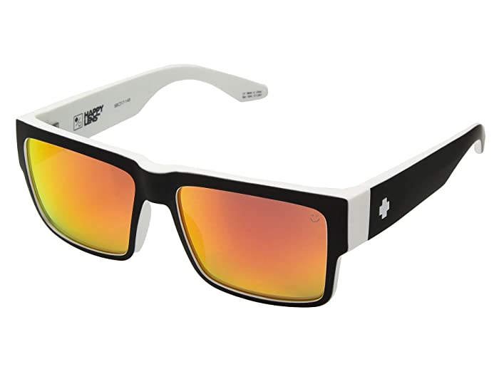 Spy Optic Cyrus (Cyrus Whitewall HD Plus Gray Green With Red Spectra Mirror) Sport Sunglasses