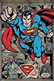 The Poster Corp Superman (Comic Montage) Laminiertes Plakat