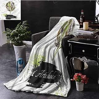 EDZEL Comfortable and Warm Beach Blanket Artichoke Fresh Menu Healthy Print Artwork 60x40 Inch