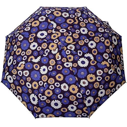 Parasol Parapluie Creative Fleur Automatique Parapluie Pluie Femmes Pliant Hommes Durable Fort Coloré Parapluies Pluvieux Ensoleillé Mode Parapluie Violet