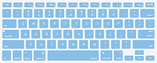 MOSISO Silicone Keyboard Cover Compatible with MacBook Pro 13/15 Inch (with/Without Retina Display, 2015 or Older Version),Older MacBook Air 13 Inch (A1466 / A1369, Release 2010-2017), Airy Blue