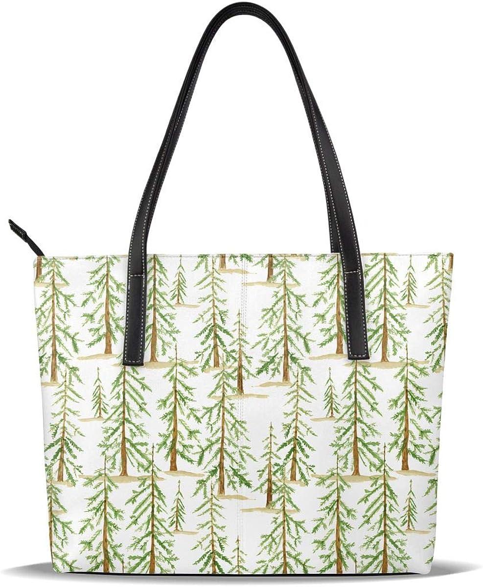 Tree Complete Free Shipping Farm Medium PU Leather Shou Casual Pattern Handbags Printed Max 49% OFF