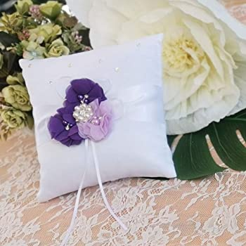 EinsSein 1x Ring pillow Parentesi 20x20 big lilac-white wedding cushion cushions bearer rings bearers pillows for page boy box weddings boxes ceremony party 2 set teal small weddingring heart wadding