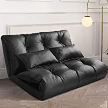 AngStep Floor Sofa Bed, Adjustable Floor Couch and Sofa with 5 Reclining Position, 2 Pillows for Reading, Gaming, Sleeper ...