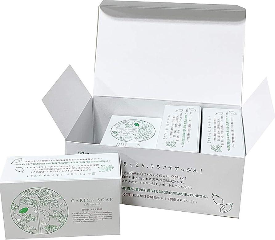 形消化器発音する植物性カリカ石鹸100g お得な4個セット(箱入)