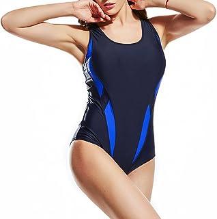 TieNew 2018 Women One Piece Padded Monokini Swimwear Ladies Bandage Tummy Control Swimsuit Bathing Suit Swimming Costume,W...