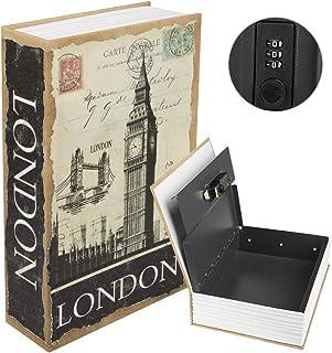 "Kyodoled Diversion Book Safe with Combination Lock, Safe Secret Hidden Metal Lock Box,Money Hiding Box,Collection Box,9.5""..."