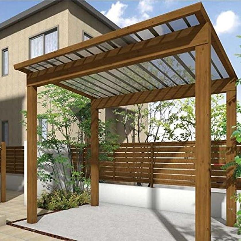 過半数首尾一貫したメイトサイクルポート タカショー スノースタイル ミニ ポリカ屋根使用(クリアマット) 標準柱(H18) 2990×2498 『サビに強いアルミ製 家庭用 おしゃれ 自転車置場 屋根』 ホワイトパイン
