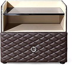 Bedside Table Bedside Table, Bedroom Small Imitation Leather Modern Multi-Function Storage Storage Bedside Cabinet, Suitab...