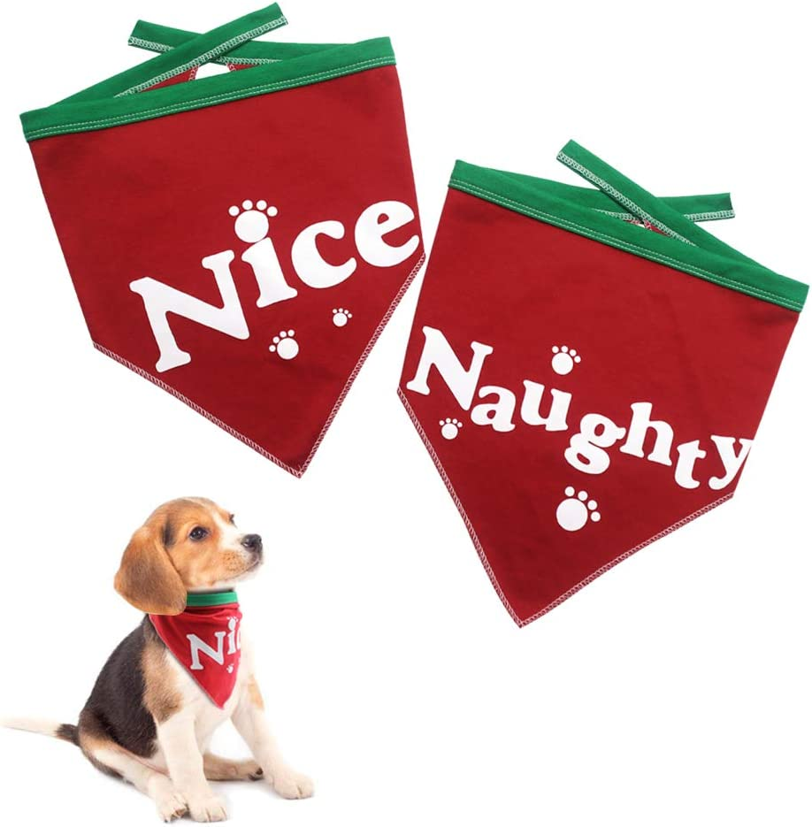 Dog New life Bandanas Set for Pet 2 Bib Naughty Soft a Free shipping on posting reviews Pack Triangle