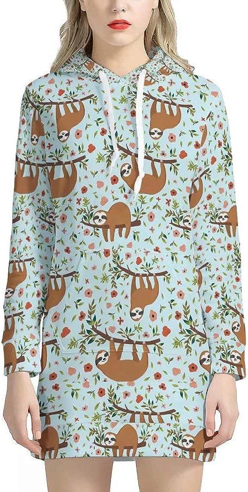 NDISTIN Women's Winter Sweatshirt Dress Drawstri store Colorful trend rank Hoodie