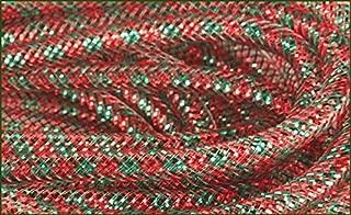 Craig Bachman Deco Mesh Flex Tubing with Metallic Foil (Red Emerald Green Christmas) 30 Yards : RE3010J8