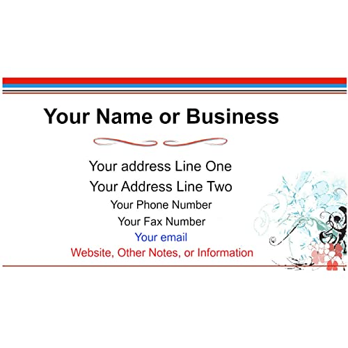 100 Standard Business Cards Color for Personal or Business use