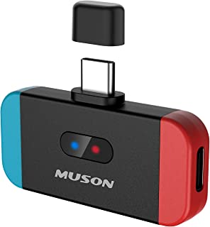 MUSON(ムソン) MK3 Switch Bluetooth トランスミッター スイッチ Switch lite PC用 aptX LL対応 低遅延 USB Type-C接続 2台同時接続可能 Bluetoothレシーバー PS4/スピーカ...