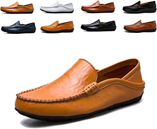Homme Cuir Véritable Chaussons Bout Pointu Formel Chaussures à Enfiler Mocassins Taille