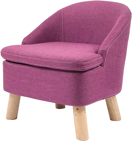 OUG 家用小沙发凳实木布艺靠背客厅休闲单人沙发椅成人脚凳现代