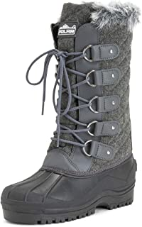 Polar Products Womens Waterproof Tactical Mountain Walking Snow Knee Boots