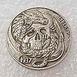 Monedas YunBest Morgan de plata de dólar – 1937 Old Hobo níquel moneda – Old Coin Collecting-Silver Dollar USA Old Morgan Dollar – monedas de plata chapadas en plata BestShop