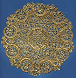 Royal Consumer Lace Round Foil Doilies, Gold, 10-Inch, Pack of 8 (B26511)