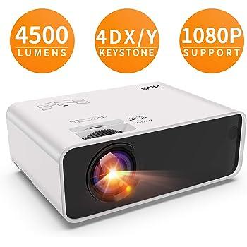 Artlii Videoprojecteur - Enjoy, ±45° 4D Correction, 30% Plus Lumineux, supporte Le 1080P, Projecteur de Faible Bruit, Videoprojecteur Portable Compatible Apprentissage à Distance Remote Learning