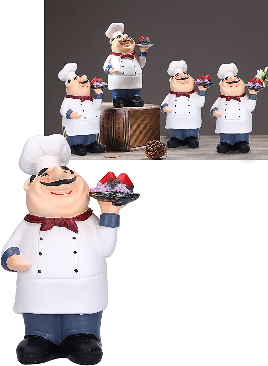 Chef Decor Synthetic excellence Resin famous Restaurant for Figurine Kit