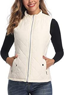 Art3d Women's Vests – Padded Lightweight Vest for Women, Stand Collar Quilted..