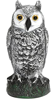 Aslion Fake Owl Decoy Hunting Deterrent Bird Cat Crow Scarer Repeller for Garden