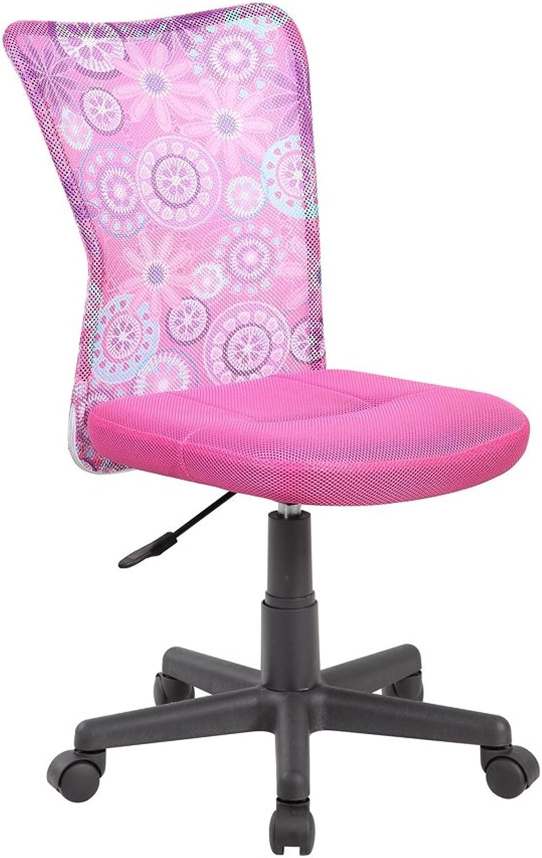 EuroStile Adjustable Kids Desk Chair Mid-Back Ergonomic Mesh Swivel Computer Office Desk Task Chair 8007FL