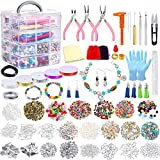 Jewelry Making Kit 1960 Pieces Jewelry Making Supplies for Bracelets Includes PP OPOUNT Beads, Charms,...